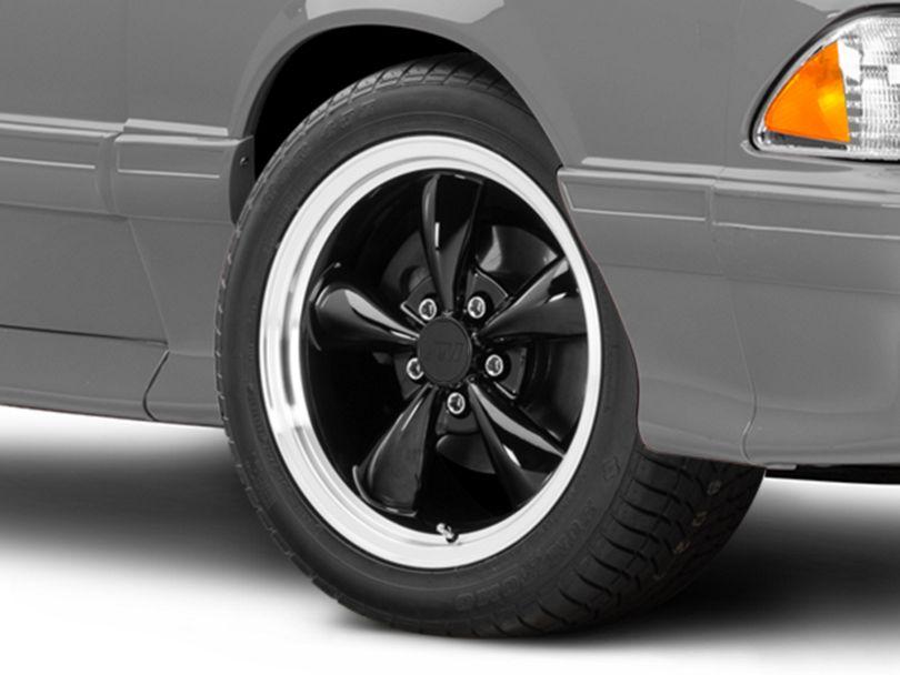 Bullitt Black Wheel - 17x9 (87-93 w/ 5 Lug Conversion)