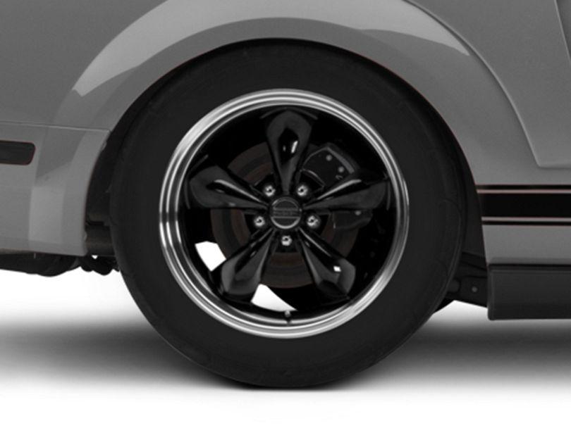 Deep Dish Bullitt Black Wheel - 18x10 - Rear Only (05-09 GT, V6)