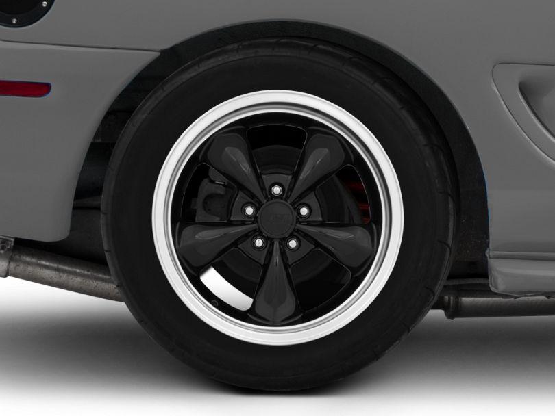 Deep Dish Bullitt Black Wheel; Rear Only; 18x10 (94-98 All)