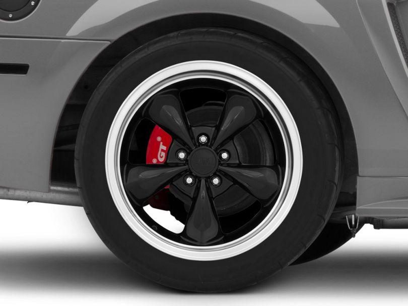 Deep Dish Bullitt Black Wheel; Rear Only; 18x10 (99-04 All)
