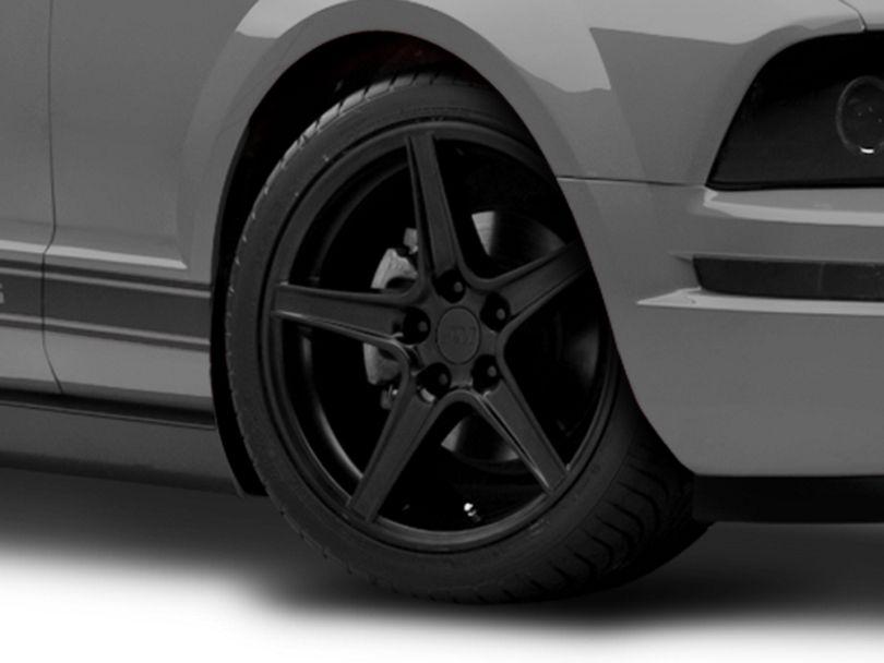 Saleen Style Matte Black Wheel; 18x9 (05-09 GT, V6)