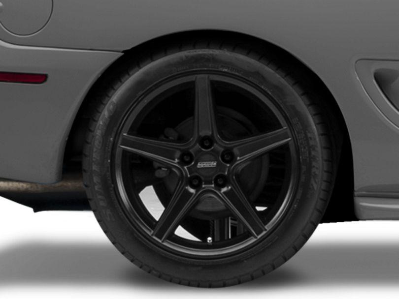 Saleen Style Matte Black Wheel - 18x10 - Rear Only (94-98 All)