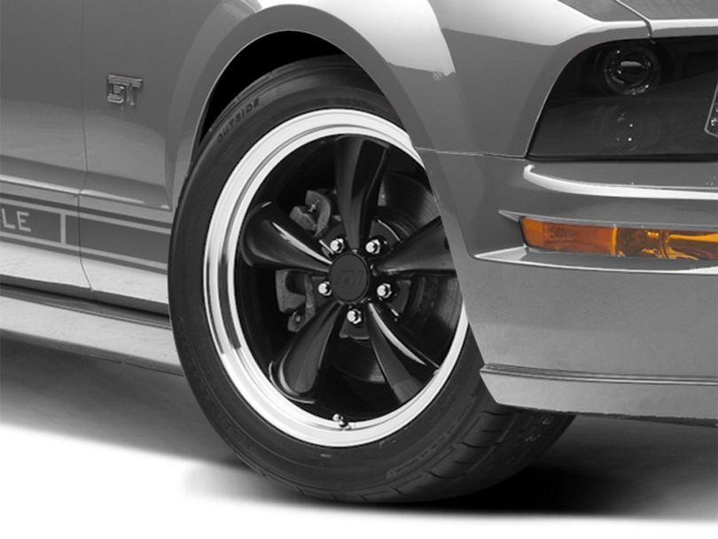Bullitt Black Wheel; 18x8 (05-09 GT, V6)