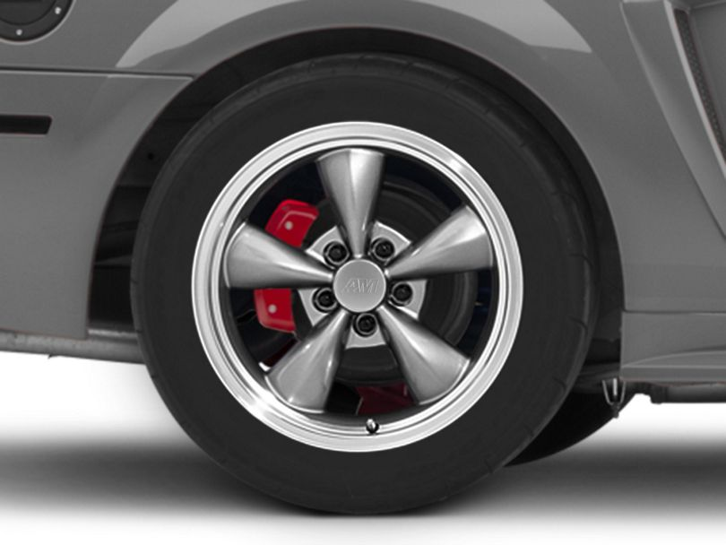 Deep Dish Bullitt Anthracite Wheel; Rear Only; 17x10.5 (99-04 All)