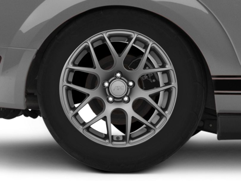 AMR Charcoal Wheel; Rear Only; 18x10 (05-09 All)