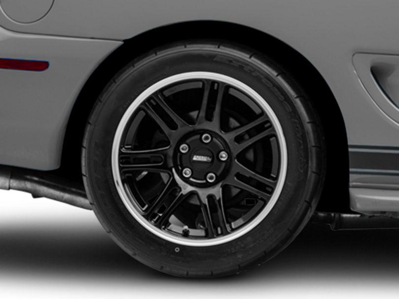 10th Anniversary Cobra Style Black Wheel - 17x10.5 - Rear Only (94-98 All)