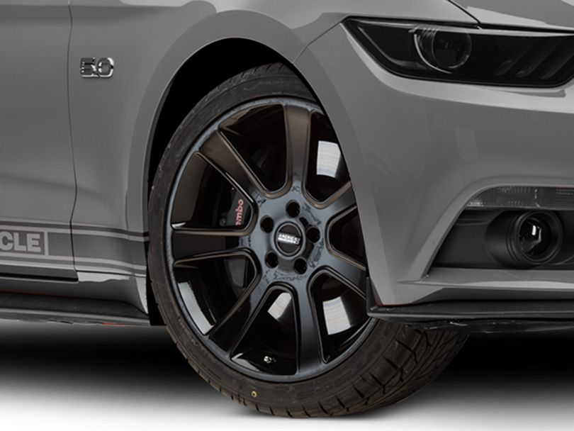 S197 Saleen Style Black Wheel; 20x9 (15-20 GT, EcoBoost, V6)
