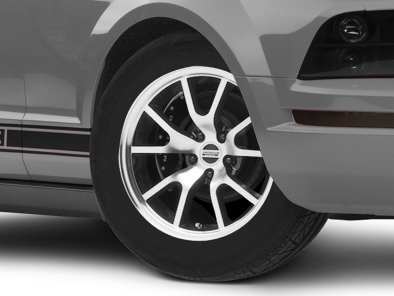 FR500 Style Black Machined Wheel; 17x9 (05-09 GT, V6)