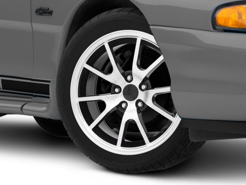 FR500 Style Black Machined Wheel; 17x9 (94-98 All)