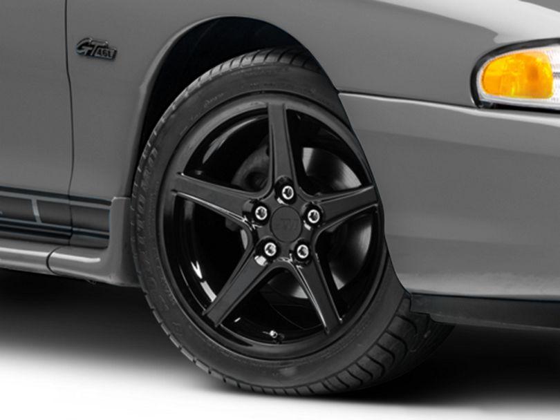 Saleen Style Black Wheel; 17x9 (94-98 All)