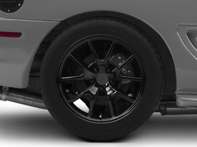 FR500 Style Solid Black Wheel; Rear Only; 18x10 (94-98 All)