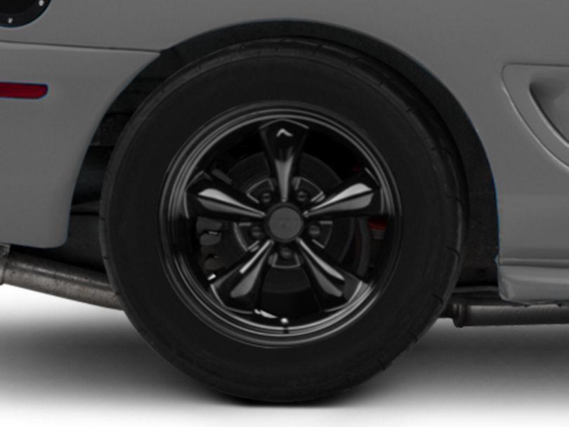 Deep Dish Bullitt Solid Black Wheel; Rear Only; 17x10.5 (94-98 All)