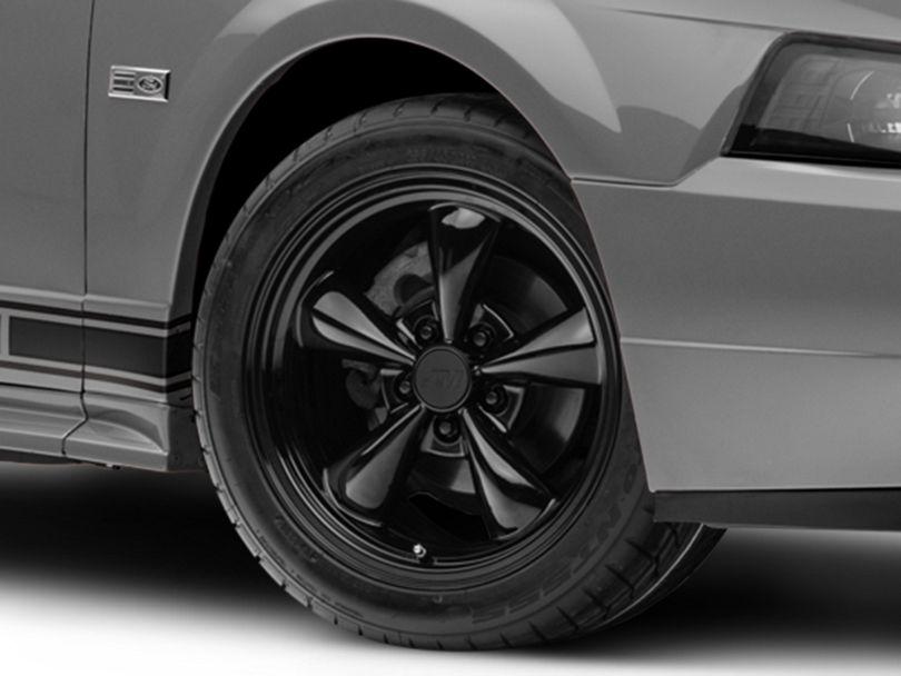 Bullitt Solid Black Wheel; 17x9 (99-04 All)