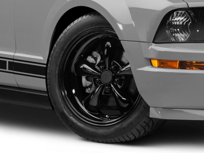 Deep Dish Bullitt Solid Black Wheel; 18x9 (05-09 GT, V6)