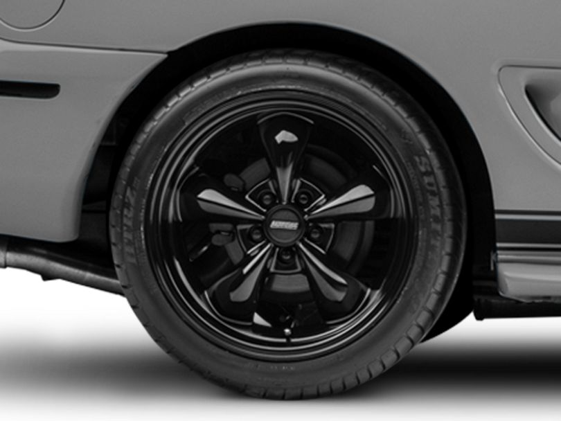 Deep Dish Bullitt Solid Black Wheel; Rear Only; 18x10 (94-98 All)