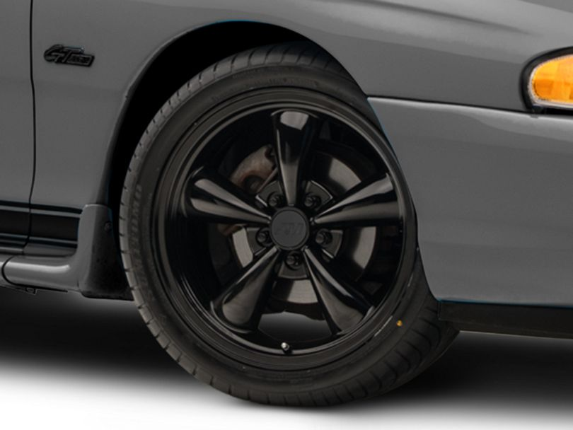Bullitt Solid Black Wheel - 18x8 (94-98 All)