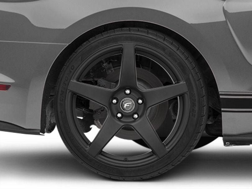 Forgestar CF5 Monoblock Matte Black Wheel; Rear Only; 19x10 (15-20 GT, EcoBoost, V6)