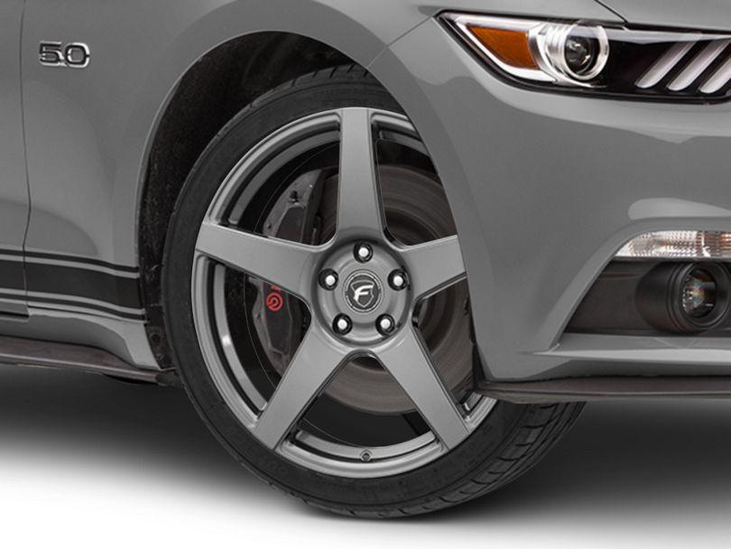 Forgestar CF5 Monoblock Gunmetal Wheel - 19x9.5 (15-20 GT, EcoBoost, V6)