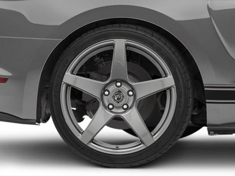 Forgestar CF5 Monoblock Gunmetal Wheel; Rear Only; 19x10 (15-20 GT, EcoBoost, V6)