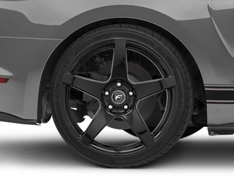 Forgestar CF5 Monoblock Piano Black Wheel; Rear Only; 19x10 (15-20 GT, EcoBoost, V6)