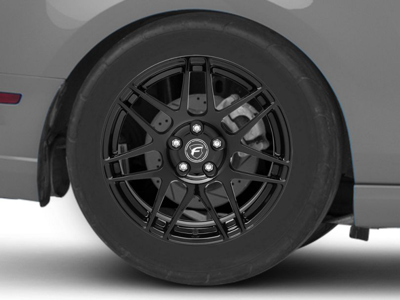 Forgestar F14 Monoblock Piano Black Wheel; 18x10; Rear Only (10-14 All, Excluding 13-14 GT500)