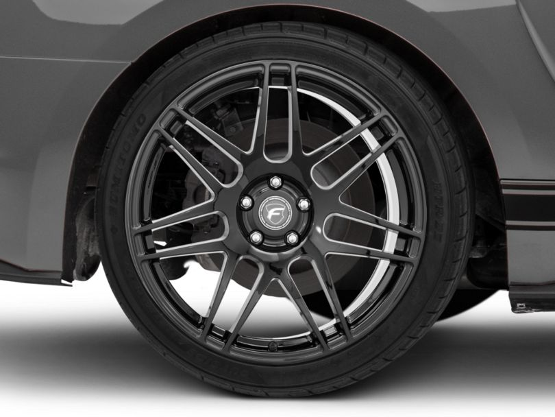 Forgestar F14 Monoblock Deep Concave Piano Black Wheel; Rear Only; 20x11 (15-20 GT, EcoBoost, V6)