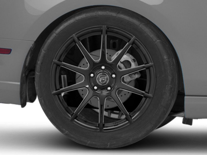 Forgestar CF10 Monoblock Piano Black Wheel; Rear Only; 19x10 (10-14 All)