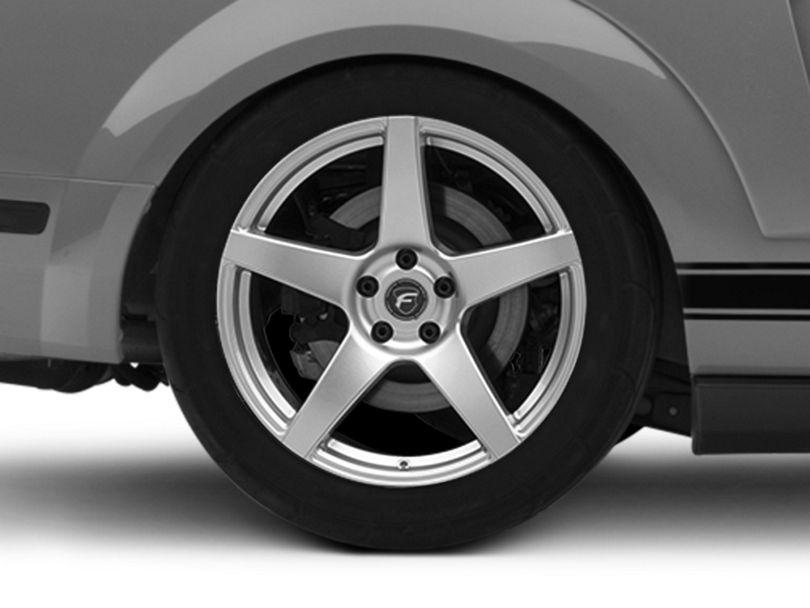 Forgestar CF5 Monoblock Silver Wheel; Rear Only; 19x10 (05-09 All)