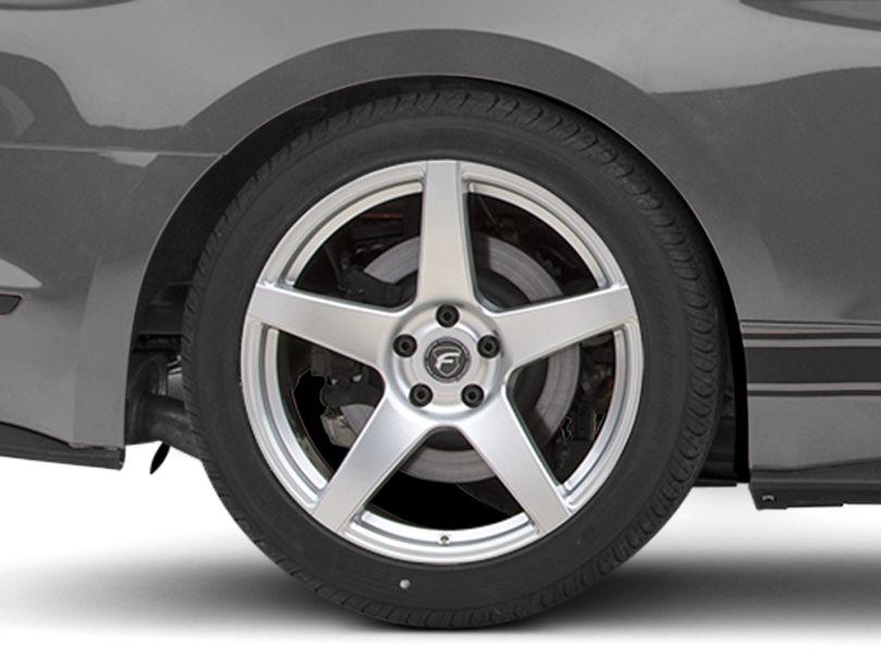 Forgestar CF5 Monoblock Silver Wheel; Rear Only; 19x10 (15-20 GT, EcoBoost, V6)