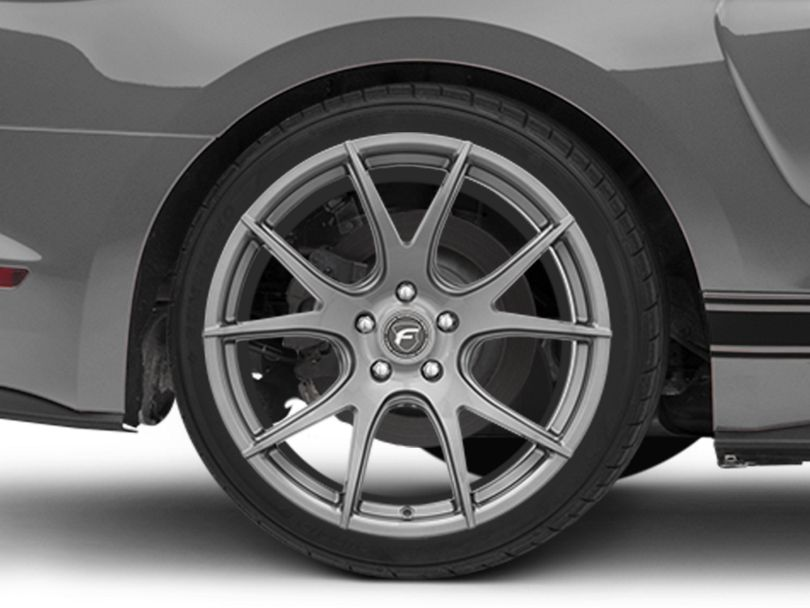 Forgestar CF5V Monoblock Gunmetal Wheel; Rear Only; 19x10 (15-20 GT, EcoBoost, V6)