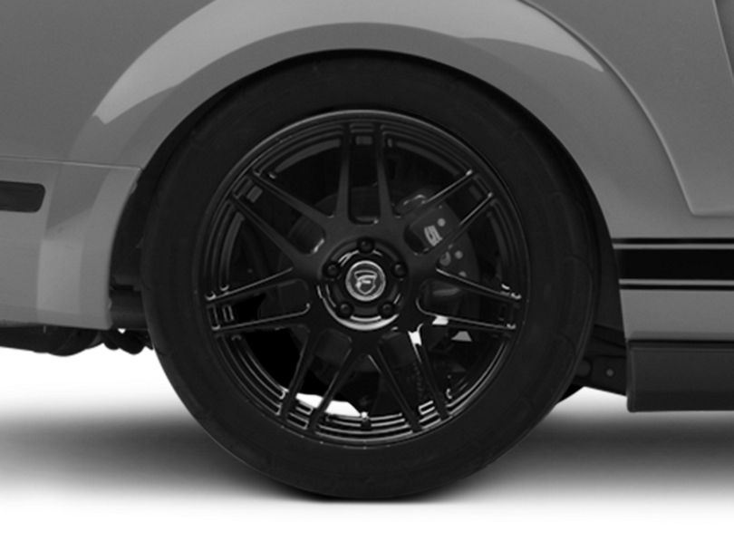 Forgestar F14 Monoblock Piano Black Wheel; Rear Only; 19x11 (05-09 All)