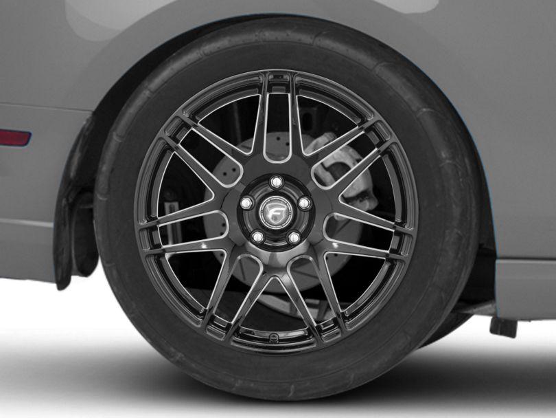 Forgestar F14 Monoblock Piano Black Wheel; Rear Only; 19x11 (10-14 All)