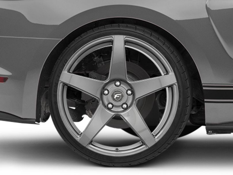 Forgestar CF5 Monoblock Gunmetal Wheel; Rear Only; 20x11 (15-20 GT, EcoBoost, V6)