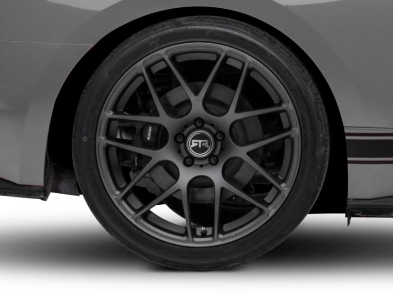 RTR Charcoal Wheel; Rear Only; 20x10 (15-20 GT, EcoBoost, V6)