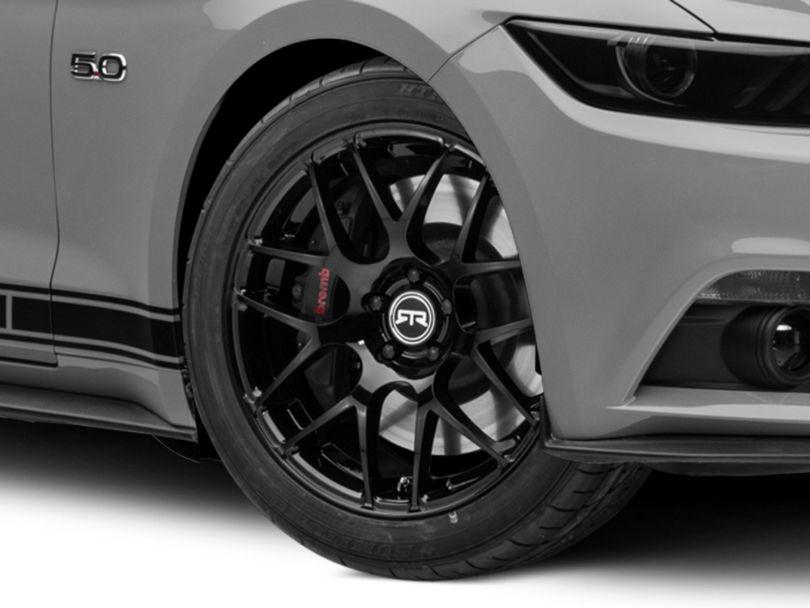 RTR Black Wheel; 19x8.5 (15-20 GT, EcoBoost, V6)