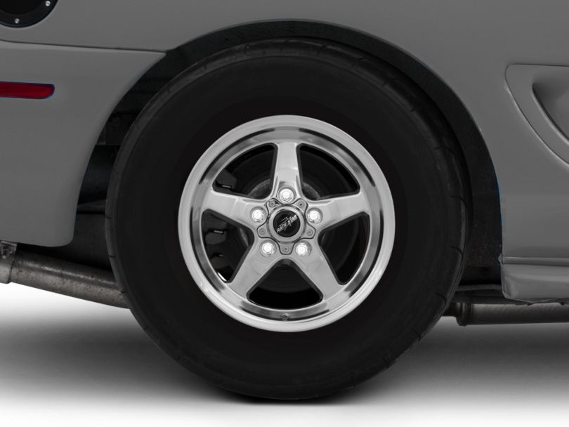 Race Star 92 Drag Star Polished Wheel; Rear Only; Direct Drill; 15x8 (94-98 GT, V6)