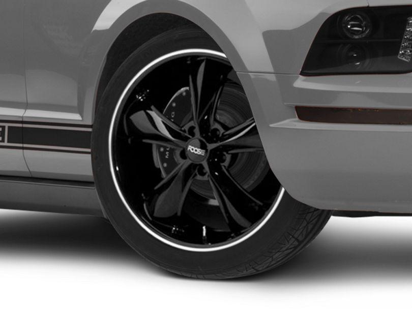 Foose Legend Black Wheel; 20x8.5 (05-09 GT, V6)