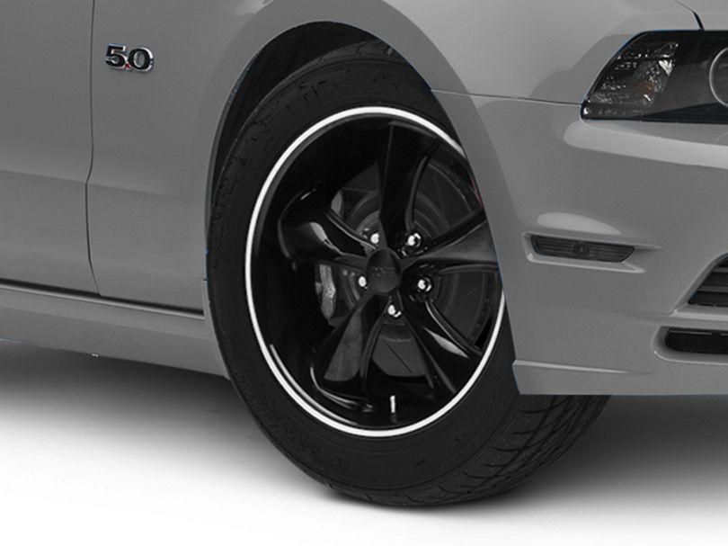 Foose Legend Black Wheel; 18x8.5 (2010 GT, V6)