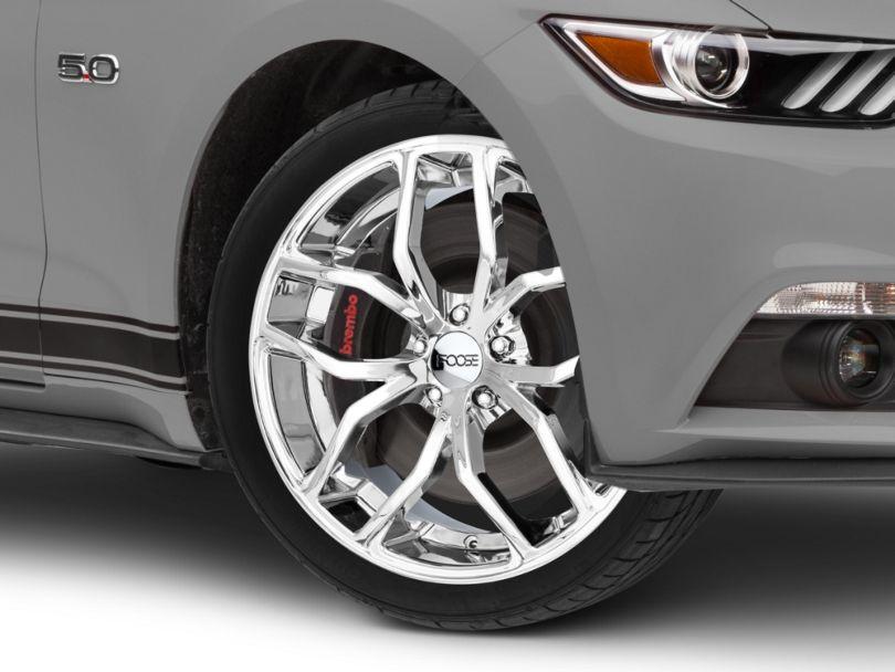 Foose Outcast Chrome Wheel; 20x8.5 (15-20 GT, EcoBoost, V6)