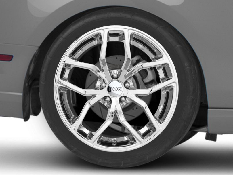 Foose Outcast Chrome Wheel; Rear Only; 20x10 (10-14 All)