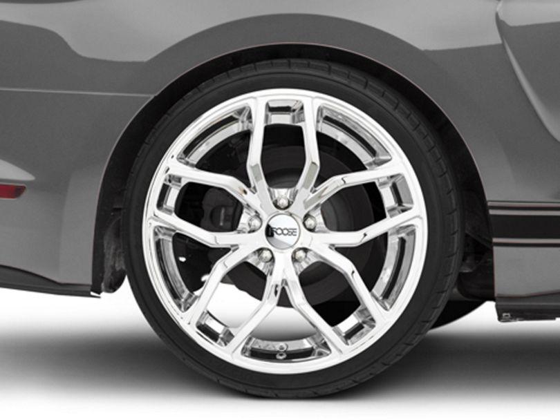 Foose Outcast Chrome Wheel; Rear Only; 20x10 (15-20 GT, EcoBoost, V6)