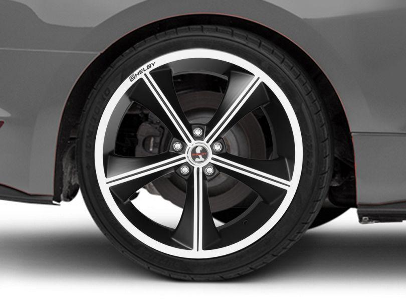Shelby CS70 Matte Black Wheel; Rear Only; 20x10 (15-20 GT, EcoBoost, V6)