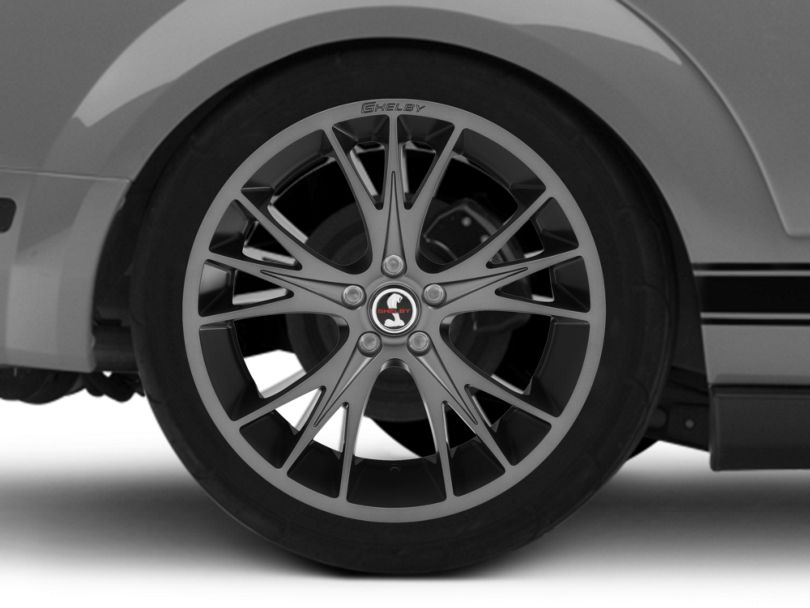 Shelby CS1 Gunmetal Wheel; Rear Only; 20x11 (05-09 All)