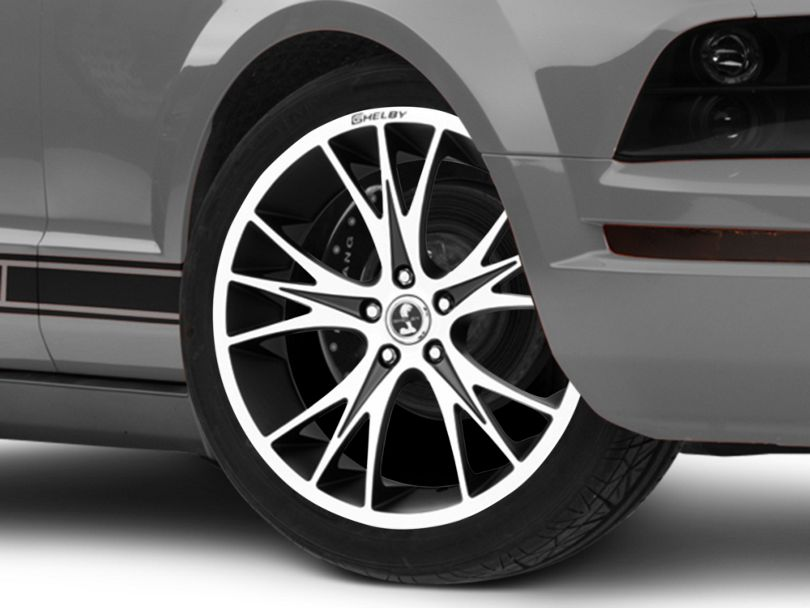 Shelby CS1 Black Machined Wheel; 20x9 (05-09 All)