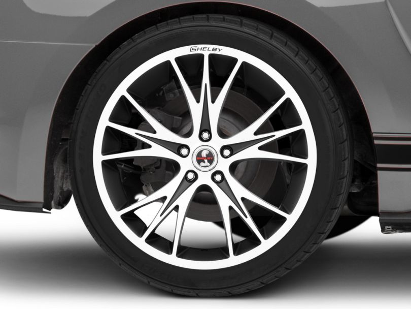 Shelby CS1 Black Machined Wheel; Rear Only; 20x11 (15-20 GT, EcoBoost, V6)