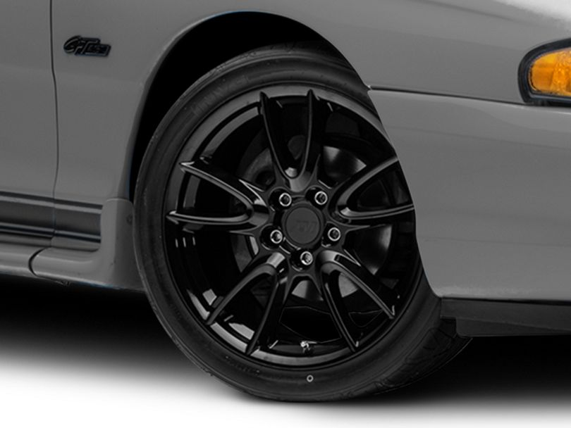 Track Pack Style Gloss Black Wheel; 18x9 (94-98 All)