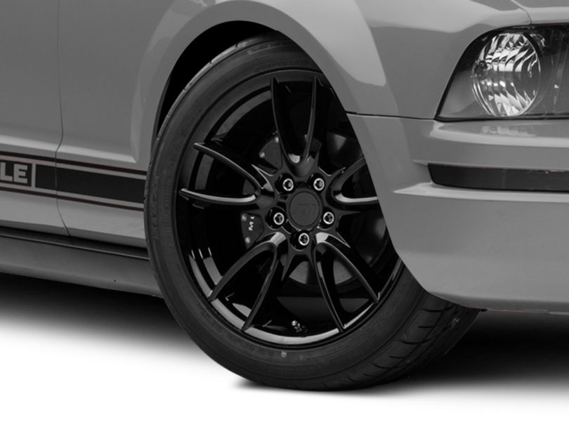 Track Pack Style Gloss Black Wheel; 19x8.5 (05-09 All)