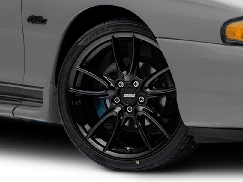 Track Pack Style Gloss Black Wheel; 19x8.5 (94-98 All)