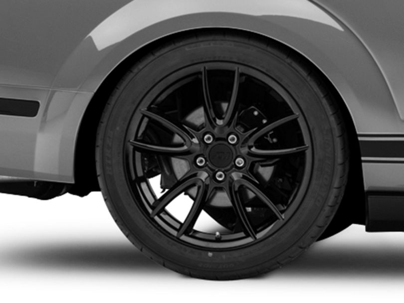 Track Pack Style Gloss Black Wheel; Rear Only; 19x10 (05-09 All)