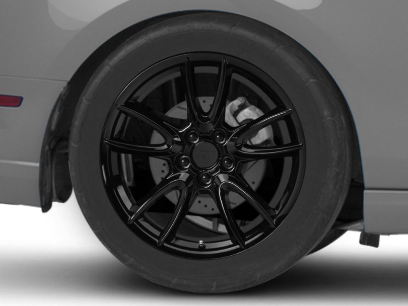 Track Pack Style Gloss Black Wheel; Rear Only; 19x10 (10-14 All)
